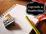 Copywork as Handwriting