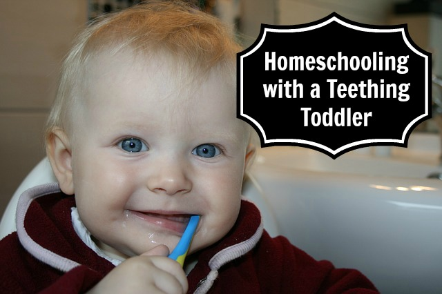 Homeschooling with a Teething Toddler