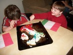 Italy Cookie Cake and Flag
