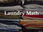 Laundry Math