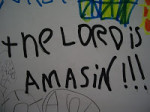 Woo hoo hoo, the Lord is amasin!!!