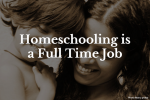 Homeschooling is a full-time job