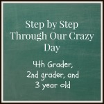 Step by step through our crazy school day