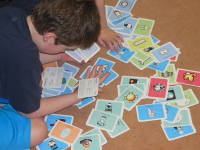 Basher periodic table flashcards eclectic homeschooling 6th grader reading about the element these are the flashcards after they have been cut in half urtaz Image collections