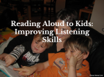 Reading Aloud to a Visual Spatial Learner – Improving Listening Skills