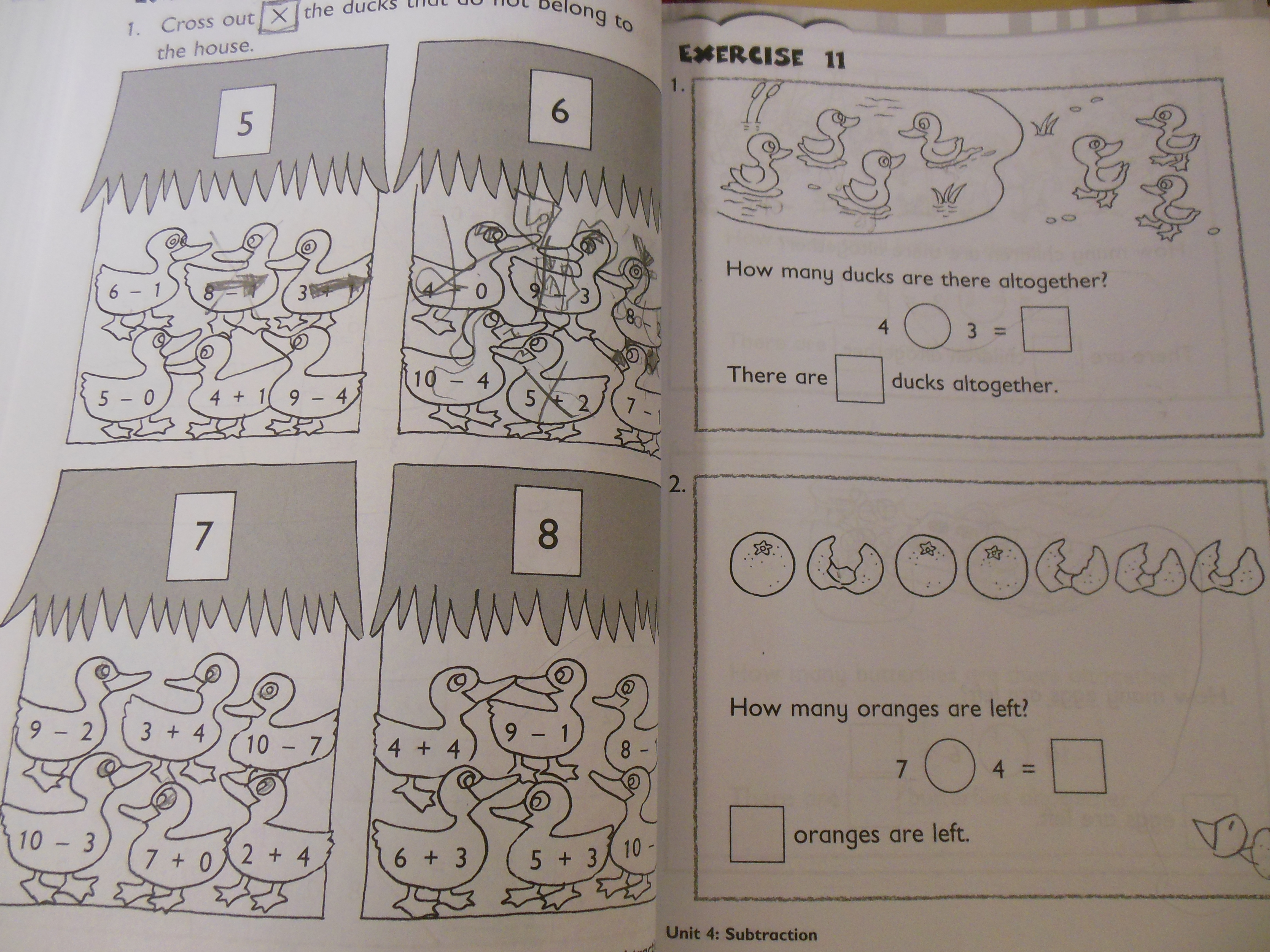 Distractions and delays in completing a math workbook page ...