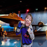 Virtual Travel around North America study.  My son cut and pasted himself into a picture at the Air Zoo.