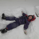 Seasons and Holidays study.  My daughter's first snow angel.
