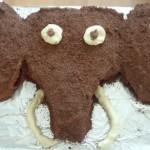 Prehistory study.  Woolly mammoth cake