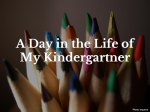 A Homeschool Day in the Life of My Kindergartner