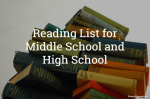 Middle School to High School Reading List for a Strong Reader