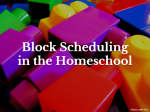 Block Scheduling in the Homeschool