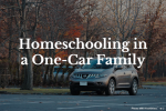Homeschooling in a One-Car Family