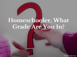 Homeschooler, What Grade Are You In?