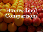 Homeschool Comparisons