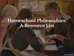 Homeschool Philosophies:  A Resource List