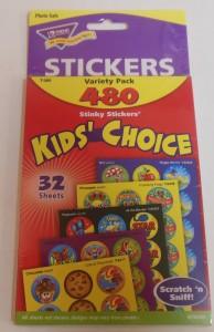Round Stinky Stickers