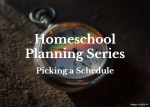 Homeschool Planning Series:  Picking a Schedule