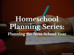 Homeschool Planning Series:  Planning the Next School Year