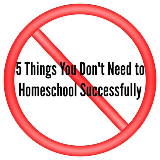 5 Things You Don't Need to Homeschool Successfully