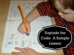 Explode the Code: A Sample Lesson