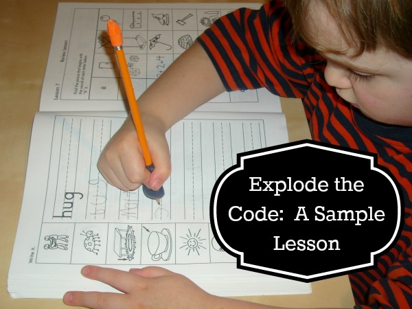 Explode the Code A Sample Lesson