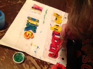 Preparing letters for printing