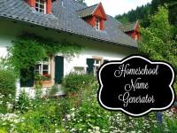Homeschool Name Generator