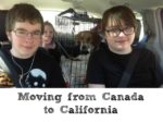 Moving from Canada to California